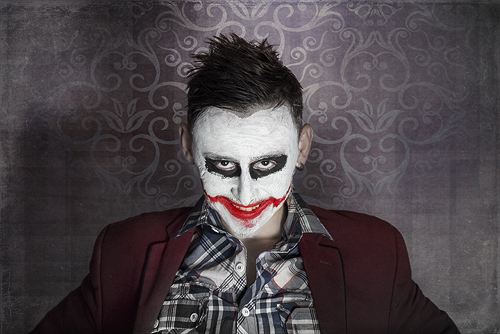 Photoshop CC photo editing – Creepy Joker face