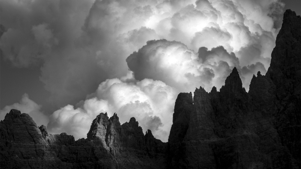 Landscape photo editing in Lightroom – Black and white drama in the Dolomites Mountains