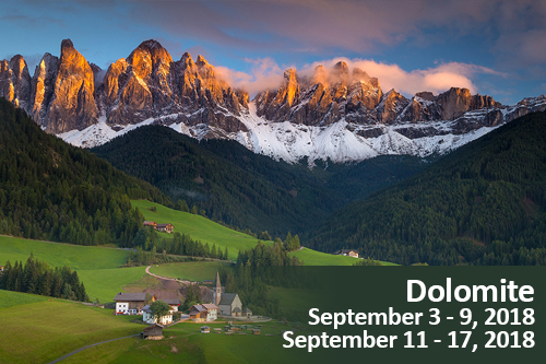 Dolomite Mountains Photo Tour