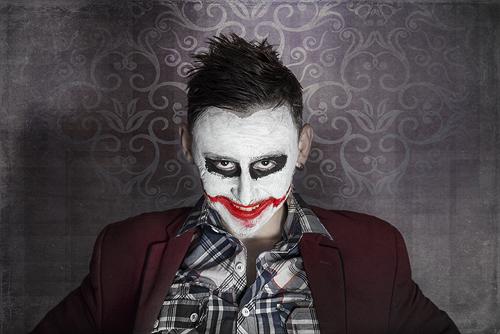 Photoshop CC photo editing – Creepy Joker face