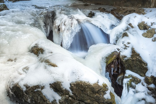 How to make panoramic photos with frozen waterfalls