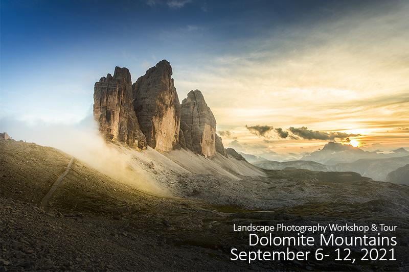 Dolomite Mountains Photo Tour – September 2021